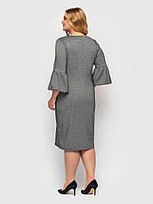 Плаття ділове батал елегантне пряме з поясом, фото 3