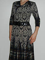 Тонкое платье из вискозы с растительным орнаментом и широкой юбкой Exclusive 50255679 рр. M, L