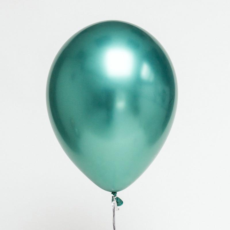 Повітряні кулі Хром зелений 30 см 1 шт Китай