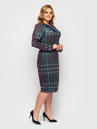 Стильное элегантное платье батальное трикотажное, фото 2
