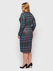 Стильное элегантное платье батальное трикотажное, фото 3