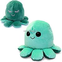 Мягкая игрушка «Осьминог перевертыш» Копиця, двусторонний, мятный/зеленый, 14*20*19 см, (00514-3)