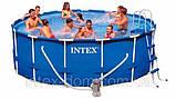 Каркасный бассейн INTEX Metal Frame. Арт. 54946//28236 (457x122cм)+28644 Песочный фильтр-насос 4000 л/ч Int, фото 6