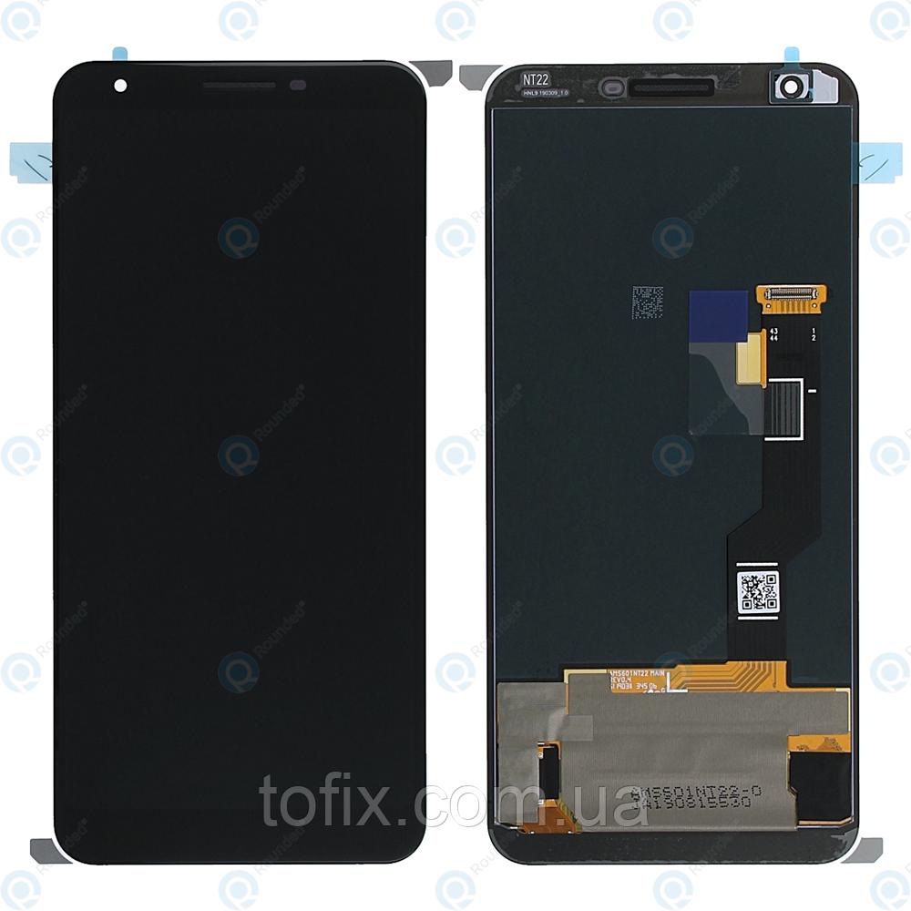 Дисплей для Google Pixel 3a XL (G020C, G020G, G020F), модуль в зборі (екран і сенсор), чорний, оригінальний