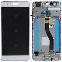 Дисплей для Asus ZenFone 3 Zoom ZE553KL (Z01HD, Z01HDA), модуль (экран и сенсор) с рамкой, белый, оригинал