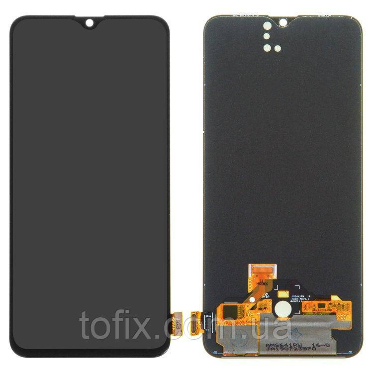 Дисплей для Realme XT, Realme X2 (RMX1921), модуль в зборі (екран і сенсор), чорний (OLED)