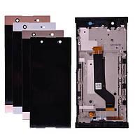 Дисплей для Sony Xperia XA1 Ultra G3212, G3221, G3223, G3226, модуль (экран) с рамкой - панелью, оригинал