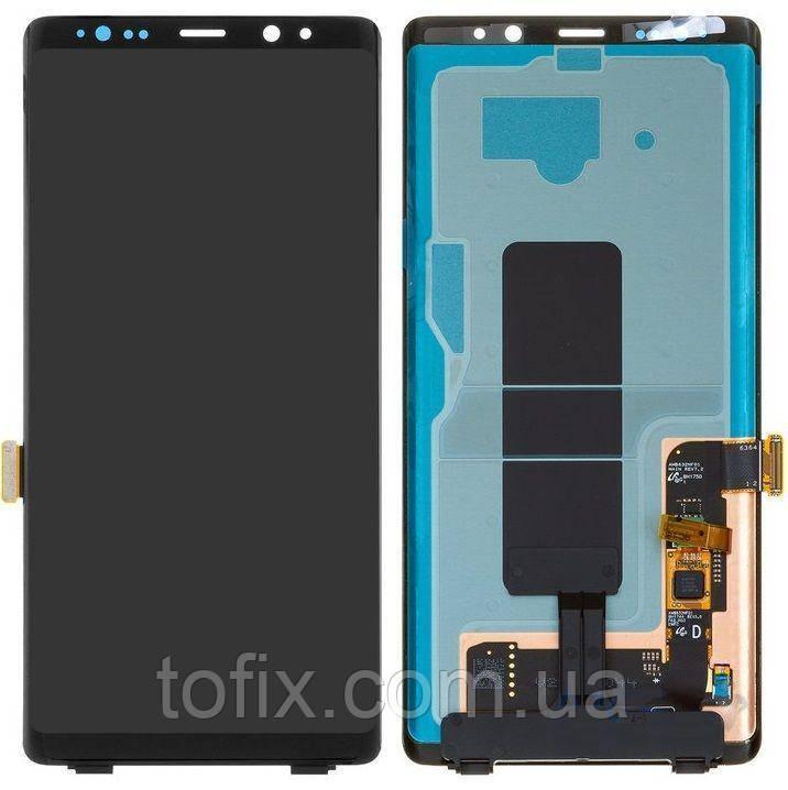 Дисплей для Samsung Galaxy Note 8 N950, модуль в зборі (екран і сенсор), чорний, OLED