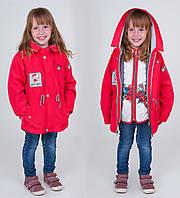 Стильная весенняя куртка-парка 2 в 1 для девочки.