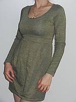 Короткие осенние платья вискоза с люрексом Treysi Турция рр.M, L