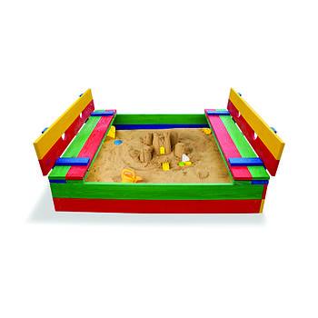 Детская деревянная песочница Sportbaby 11
