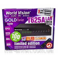 World Vision T625A LAN DVB-T2 + навчаний пульт