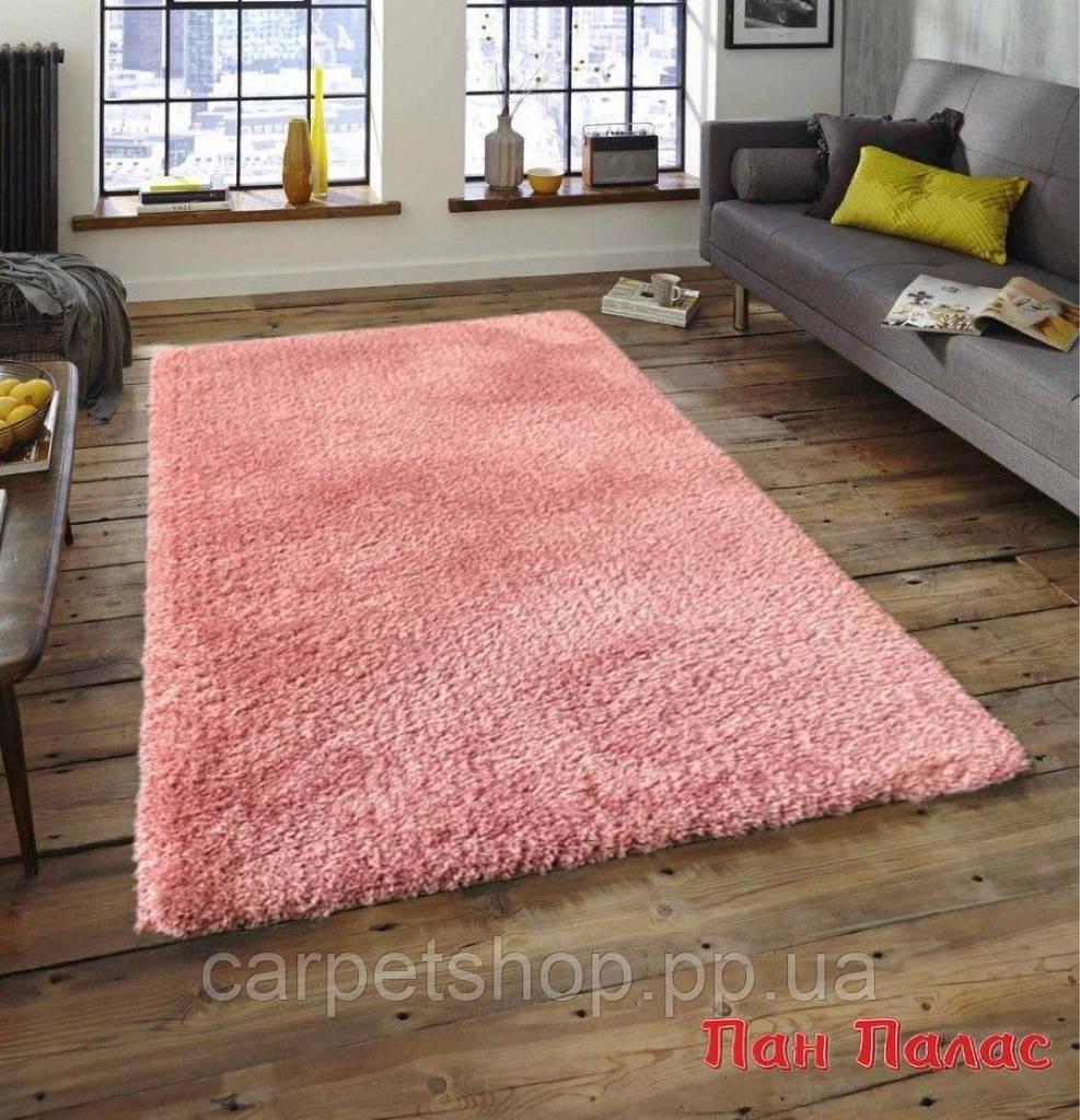 2,0х2,9 м. Ковер shaggy, микрофибра розовый, терракотовый цвет. Овал и прямоугольный.