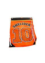 Рюкзак-сумка для взуття 45 х 35 см помаранчевий-чорний K10-110704