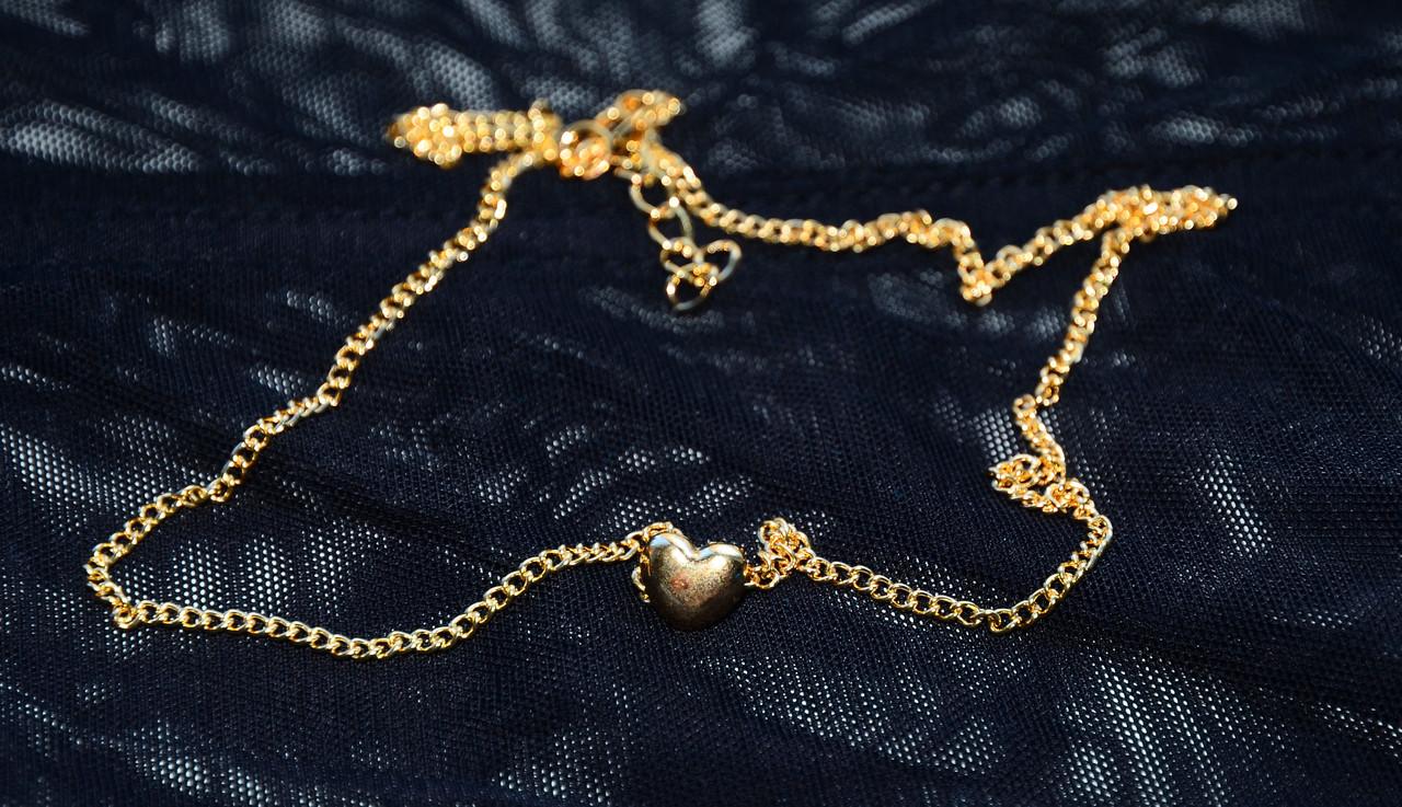 Мила маленька ланцюжок на ніжку/ручку фенечка з маленьким серцем сердечком під золото 082021