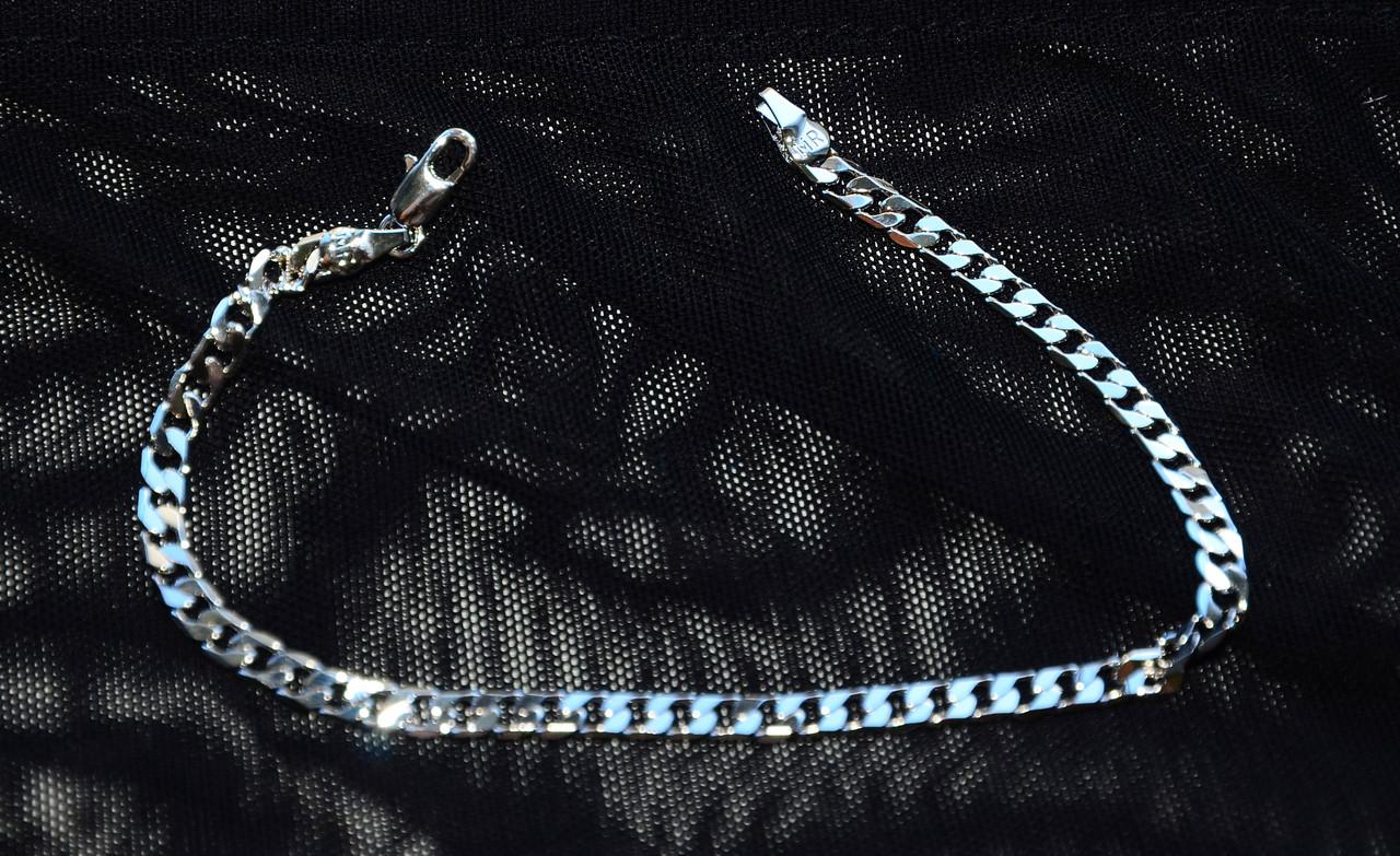 Красивый утонченный браслет цепочка на руку под серебро белое золото с очень красивым плетением 082021