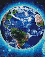 Алмазна мозаїка ArtStory Планета Земля 40*50см в коробці