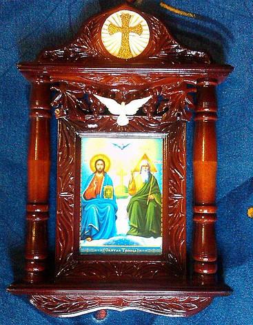"""Икона в киоте """" Пресвятая Троица"""", фото 2"""
