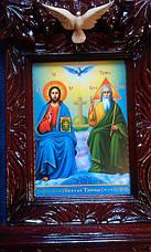 """Икона в киоте """" Пресвятая Троица"""", фото 3"""