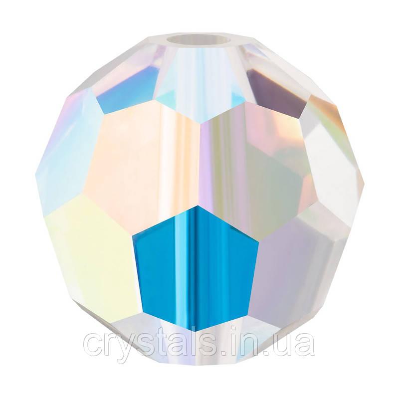 Круглые хрустальные бусины Preciosa (Чехия) 8 мм Crystal AB