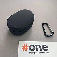 Чехол для наушников Xiaomi Redmi AirDots силиконовый однотонный футляр для наушников сяоми аирдотс черный RDT