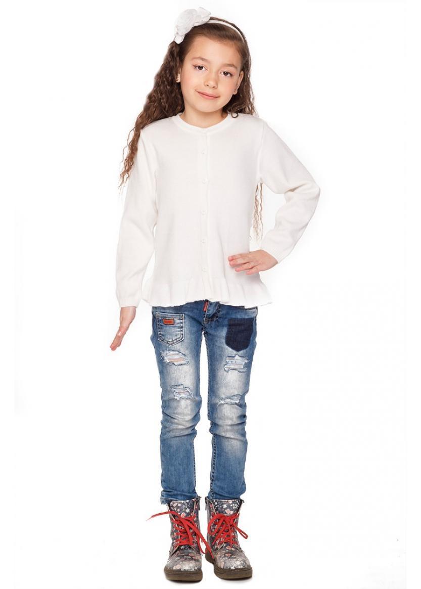 Детская хлопковая кофта с воланом рост 98-116 см