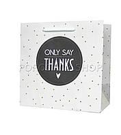 Бумажный подарочный пакет 150*150*80 мм, Точка
