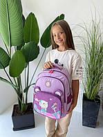 Рюкзак со зверюшкой детский (для девочек) СИРЕНЕВЫЙ (ПОШТУЧНО), фото 1