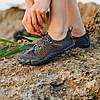 Сірі аквашузи чоловічі і жіночі коралкі акваобувь шльопанці для моря аква взуття сліпони мокасини на море пляж, фото 2