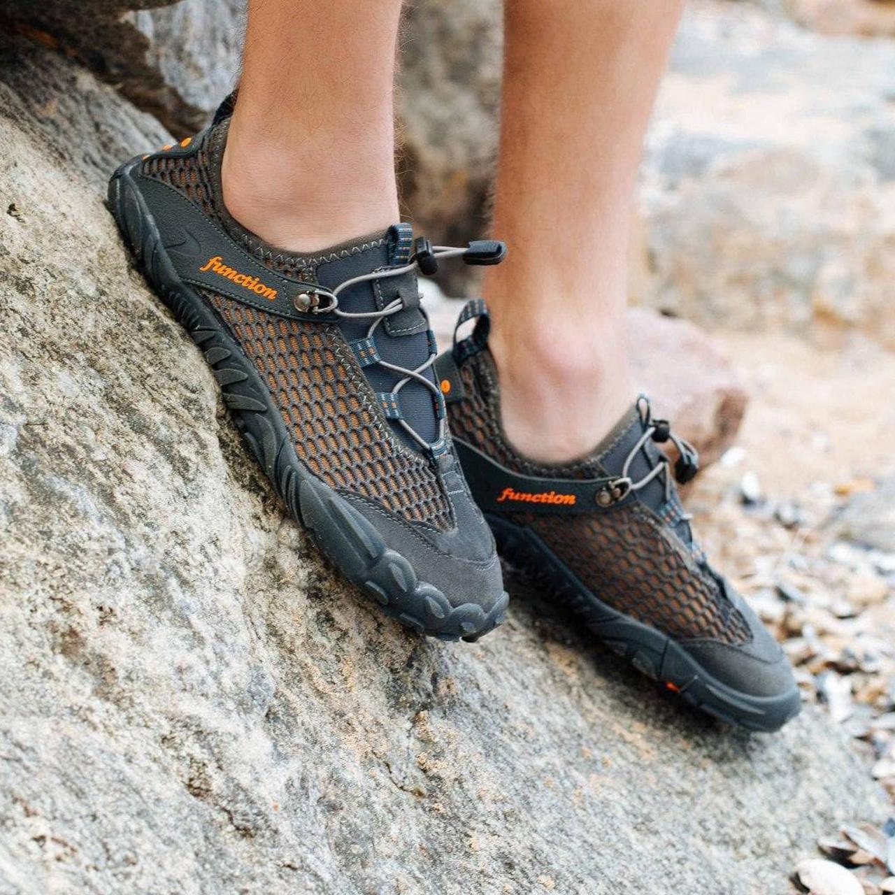 Сірі аквашузи чоловічі і жіночі коралкі акваобувь шльопанці для моря аква взуття сліпони мокасини на море пляж