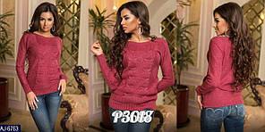 Молодежный вязаный свитер женский шерстяной машинная вязка  арт. 6763