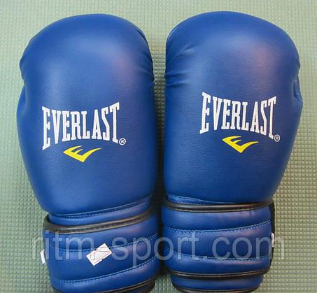 Перчатки боксерские EVERLAST синие (12 унций), фото 2