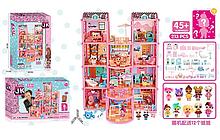 Игровой кукольный домик ЛОЛ ВВ 002 с мебелью , 12 куколок, карета, 247 деталей