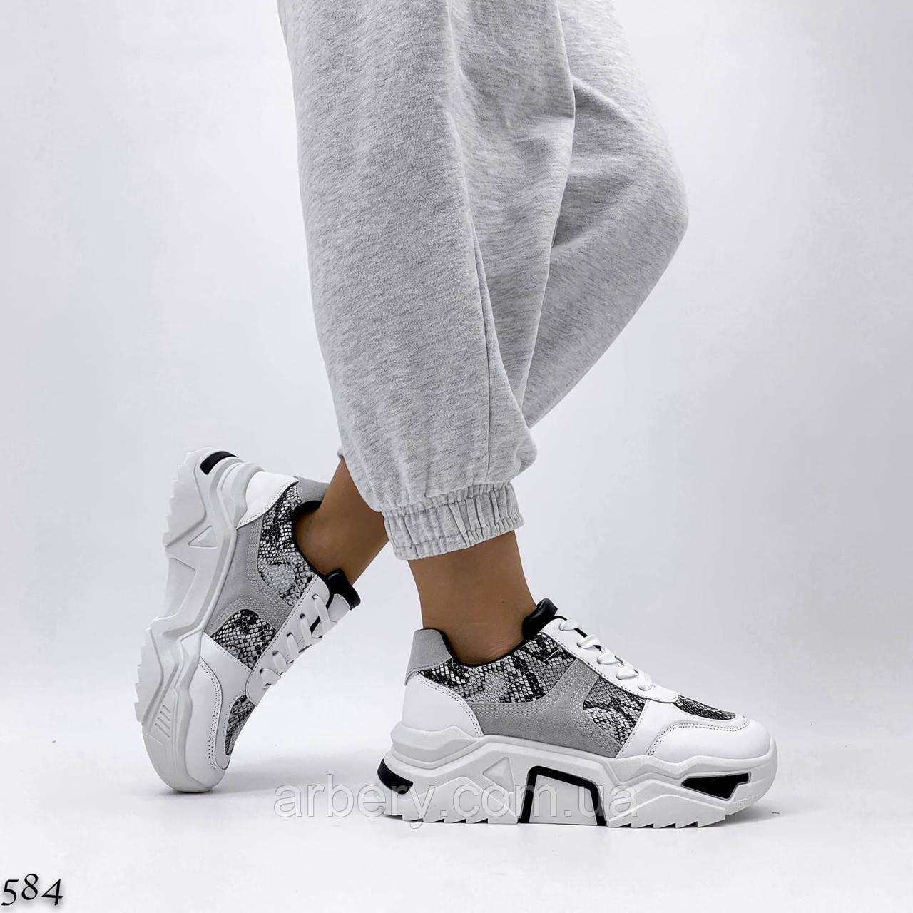 Шикарные кроссовки с принтом под рептилию