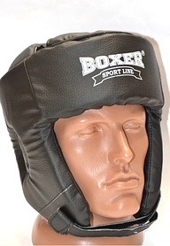 Шолом боксерський кожвініл Boxer Sport Line M Чорний (hub_ljPR34743)