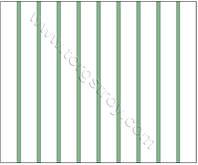 Реечный потолок: белая рейка с зеленой вставкой