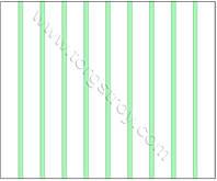 Реечный потолок: белая рейка с светло-зеленой вставкой