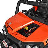 Дитячий електромобіль на акумуляторі Баггі M 3825 з пультом радіоуправління для дітей 3-8 років помаранчевий, фото 6