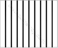 Реечный потолок: белая рейка с черной вставкой