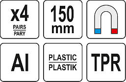 Сменные губки для тисков 150 мм YATO YT-65008, фото 3