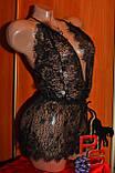 """Черный кружевной ромпер пижама """"Калипсо"""" 6609 082021, фото 2"""
