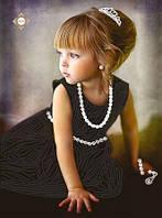 """Схема для частичной вышивки бисером """"Маленькая принцесса"""""""