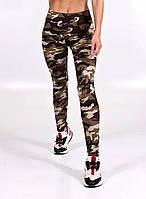 Женские камуфляжные лосины для спорта, спортивные леггинсы лосины для фитнеса, женская одежда для йоги