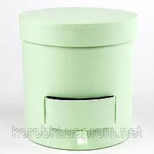 Подарочная коробка цветочная с выдвижным ящиком, 14,5*13,8*13,8 см