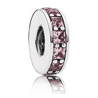 Розовый разделитель из серебра 925 пробы пандора (pandora)