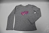 Модный реглан с пайетками сердечки, фото 1