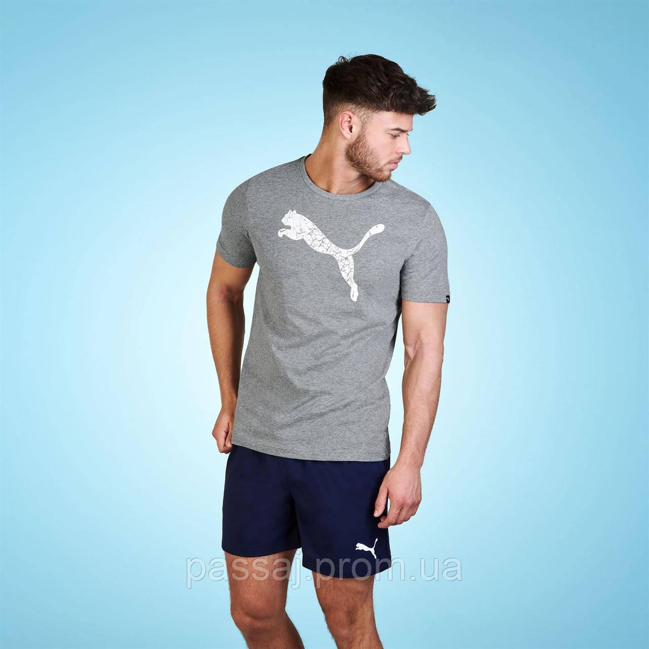 Серая футболка puma оригинал новая xl
