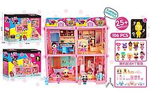 Игровой кукольный домик ЛОЛ ВВ 018 с мебелью , 6 куколок
