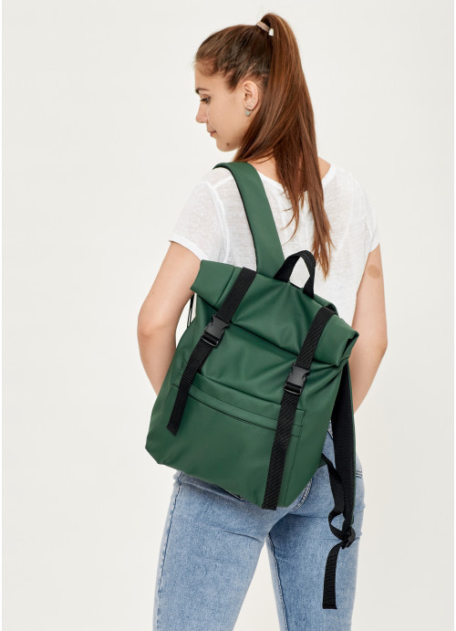 Рюкзак рол Sambag унісекс RollTop LSH зелений