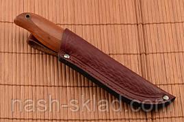 Нож охотничий с цельным клинком, мощная сталь, красное дерево, фото 2